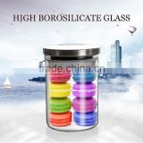 china factory 900ml borosilicate glass jar for food storage