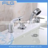 Household High Quality Product FLG413 Lead Free Chrome Finished Cold&Hot Water 4 PCS Bathtub Shower 4 Holes Faucet set