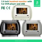 popular 7 inch car dvd player headrest with SD USB IR FM functions Special for Hyundai/Kia