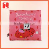 Custom decorative back support plush strawberry sofa pillow