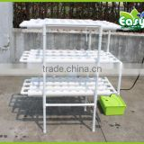 NFT Hydroponics system with 108pcs of net cup. Home hydroponics system. Nutrient Film Technique (NFT)