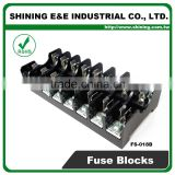 FS-018B 600V 10 Amp 8 Way Midget Type Din Rail Glass Fuse Carrier
