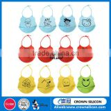 NEW products 100% Food Grade Healthy Feeding Silicone Bibs for Babies, Soft Silicone Baby Bibs With Food Pocket