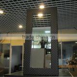 synthetic PE rattan frame bathroom mirror