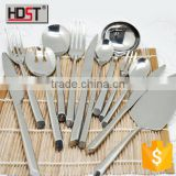 2015 new design 24pcs Brilliant silver spoon & fork set, good quality sample free flatware wholesale