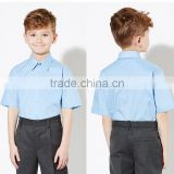 Boys' Easy Care Short Sleeve School Shirt,Custom School Uniforms Clothing Apparel Manufacturer Guangzhou