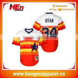 Hongen apparel Dri fit colleague children's sportswear softball jersey Men reversible baseball uniform