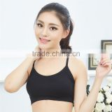 Prompt delivery thick cotton cup seamless beauty women underwear sports bra without steel ring