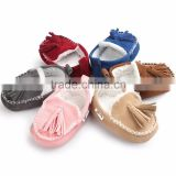 0-18month baby leather shoes soft boat shoes for winter M7031705