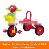 China 2014 new product metal frame cartoon children tricycle with basket, kids vehicle toys China supplier