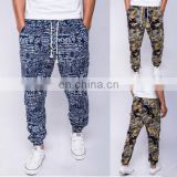 Men Chic Male Sports Jogger Slacks Harem Hip Hop Floal Cotton Loose Trousers Pants