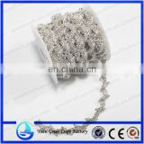 2015new arrival oval shape two row crystal chain rhinestone trimming for garment accessory