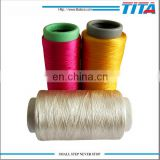 Hot sale dope dyed AA grade semi dull twist 100% polyester yarn