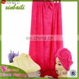 High Quality Beach Wrap Dress and Hair Wrap Bamboo Fiber Towel