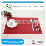 Dark red PVC placemat made in China
