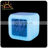 Rotate the multi-function clock 7 colour,LED Backlight alarm clock
