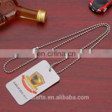 fashionable jewelry dog tag necklaces zinc alloy dog tag