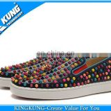 Black causal shoe with coloful rivet for sale