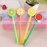 Cute Fruit plastic gel pen 0.5mm Refill gel pen Customized logo gel pen