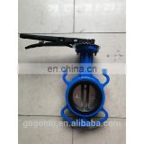 Handle to clip butterfly valve, nodular cast iron butterfly valve, D71X-10Q soft seal butterfly valve
