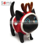 customize oem available Christmas santa gift cat creative Saving Banker money safety box