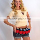 Novelty Adjustable 6Pack Beer Soda Can Holster Belt Waist Pack Bag
