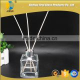 135ml clear color square shape perfume use and high white glass glass material round diffuser bottles
