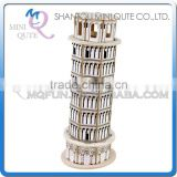 Mini Qute 3D Wooden Puzzle Leaning Tower of Pisa world architecture famous building Adult model educational toy gift NO.MJ212