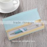 Wholesale crystal color ball pen in gift box set with logo                                                                                                         Supplier's Choice