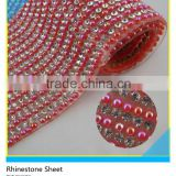 Beads Mix Crystal Hotfix Rhinestone Sheet 24x40cm Hot Fix Glass Beads Rhinestone Mesh                                                                         Quality Choice