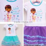 wholesale Summer Dress Girl's Cartoon DOC MCSTUFFINS print TUTU Dresses Kids girl princess Dress
