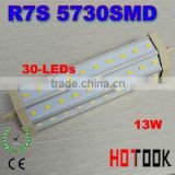 13W 5730 R7S LED Corn LIGHT 30 leds 192mm replacement for Halogen Flood Lamp 85~265V CE RoHS