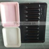 Disposable polystyrene foam trays, food grade meat packing tray