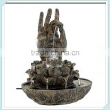 Bronze Buddha hands polyresin fountains