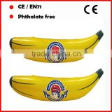 PVC inflatable banana toys for promotion can be customized logo printed