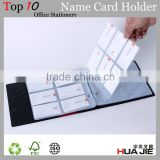 professional 360 pocket loose leaf business men name card holder visa credit cards holder