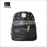 women leather backpack, girls leather backpack bags with rivets                                                                                                         Supplier's Choice