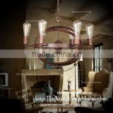 high quality modern pendant light RH loft industrial wrought iron round lamps and lanterns chandelier