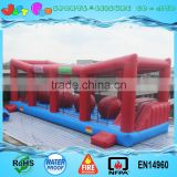 adult Inflatable wipeout obstacle course for sale/ inflatable big baller games                                                                                                         Supplier's Choice
