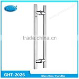 Standard mirror finished handle,round Pipe Shape Stainless Steel glass Door Handel GHT-2026