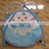 baby play gym mat with music and mosquito net/baby non-toxic play mat/round baby play gym and mats