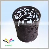 Garden wire black mesh small animal waste bin