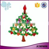 Fashion jewelry latest design zinc alloy rhinestone enamel multicolor christmas tree brooch