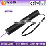 violet purple blue laser pointer 100mw 405nm ajustable for money detector with extensible tube