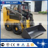 JC35H Small Skid Steer Wheel Loader with Open-type operator cab Hydraulic joystick controls Auxiliary hydraulic couplers