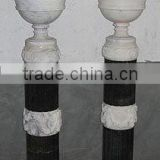 Flower pot stone planter sculpture white marble hand carved sculpture from Vietnam No 69