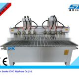 high efficiency multi heads wood router carving wooden chair legs/ stair rail multi spindle cnc machine price