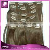 Clip In silky straight Hair Extensions For Black Women Remy Human Hair