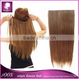 best selling light brown color Brazilian remy human natural hair clip in hair extension factory price