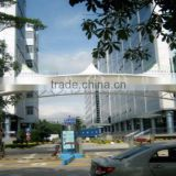 Fabric Tensile Membrane Structure canopy applicatin for hotel shopping hall with PTFE ETFE
